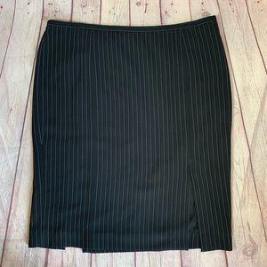 Armani Collezioni Pinstriped Pencil Skirt Size 12